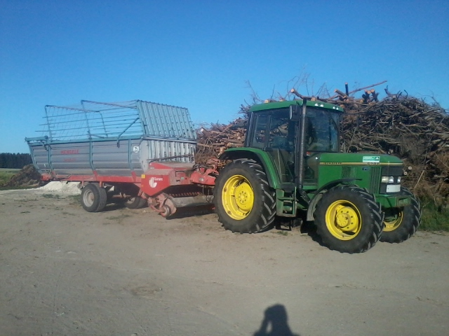 Der Erntewagen ist bereit